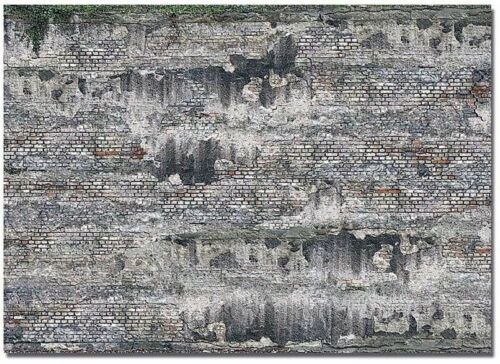 Busch 7415 2 Dekoplatten »Verwitterte Industriesteinmauer« Spur H0//TT