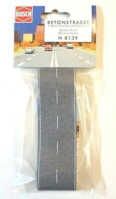 (107,25 €/m²) Busch 8139 Spur N, Strada In Cemento, 1000 X 40 Mm, Autoadesivo, Nuovo-mostra Il Titolo Originale
