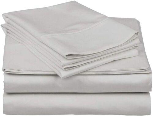 """3 PCs Sheet Set 100/%PREMIUM QUALITY Pure Cotton 400 Tc with Easy Fit 15/"""""""