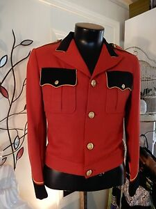 Vtg Red Mens/Womens Weiman & Sons Polyester Uniform Band Shirt S/M