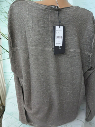 NoSecret Shirt Damen Gr.42 bis 54 Glanzgarn Langarm große Größe 626