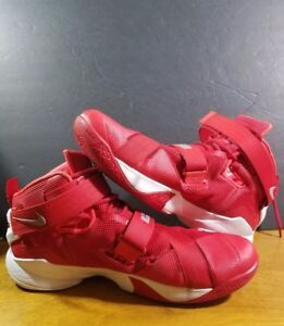 more photos 80457 c1783 Details about Nike Lebron James Soldier 9 High Tops Red Basketball Shoes  Size 13.5