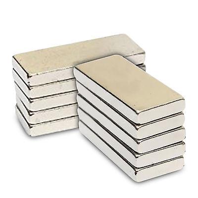 64mm x 12mm x 5mm Glossy Super Long Strong NdFeB Neodymium Block Bar  Magnets