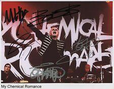 My Chemical Romance SIGNED Photo 1st Generation PRINT Ltd 150 + Certificate / 4