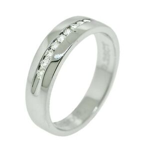 .27ct Round Cut Channel Set Diamond Mens Wedding Band in 14K White Gold