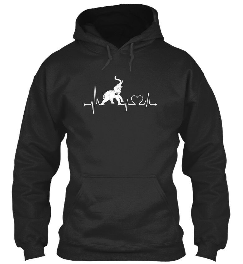 Elephant Lovers Heartbeat Standard College Hoodie    | Zürich Online Shop  | Modern Und Elegant In Der Mode  | Bestellungen Sind Willkommen  3065e9