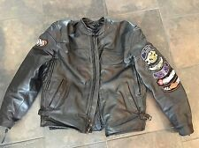 Harley Davidson Men's ORIGINAL COMPETITION Black Leather Jacket 2XL Body Armor