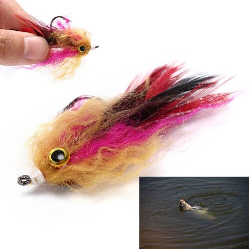 5cm hook//tube trout salmon steelhead pike fly fishing streamer flies saltwat DFC