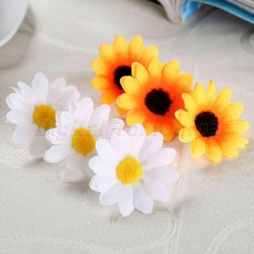 À faire soi-même Charmant Mariage Fête Décoration Fleurs Mignon Gerbera Daisy têtes réaliste