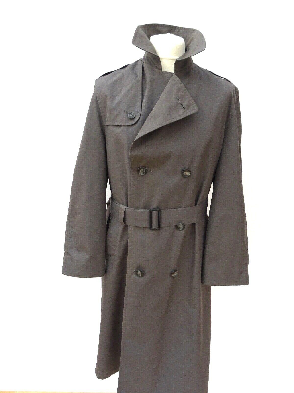 Christian Dior Monsieur Sport grau grau grau Vintage Trench Coat Rain Mac Größe 40R   3678 | Die Farbe ist sehr auffällig  d1c37c