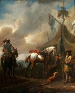 Details about PHILIPS WOUWERMAN - 17th CENTURY EXPERTISED DUTCH OLD MASTER  OIL ON PANEL