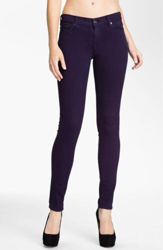 NEW 7 FOR ALL MANKIND THE SLIM ILLUSION SKINNY IN BLACKBERRY sz 27