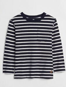 NWT-Toddler-Boys-size-3T-Stripe-long-sleeve-t-shirt-by-Baby-Gap