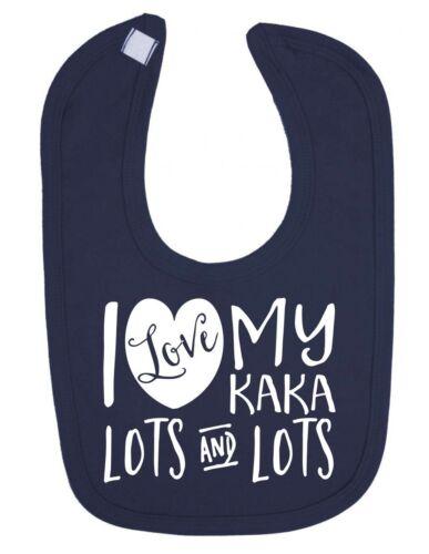 I Love My Kaka Lots and Lots Cute Newborn Toddler Baby Bib