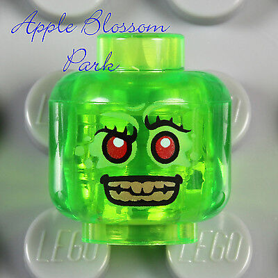 NEW Lego Retox MINIFIG HEAD Trans Green Ultra Agent Monster Red Alien Eyes 70163