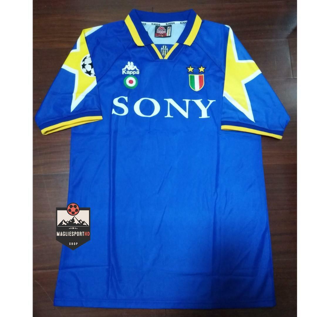Maglia Juventus 19951996 Retro Vintage Calcio Del Piero Ronaldo Champions Juve