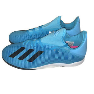 ADIDAS-X-19-3-TF-MENS-BLUE-INDOOR-TURF-SOCCER-CLEATS-SHOES-F35375-NEW-SIZE-8