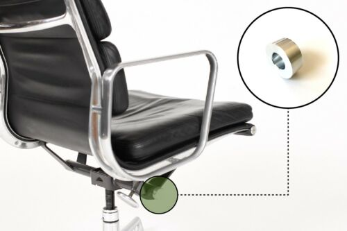 Eames Herman Miller Aluminum Group Soft Pad Chair Tilt End Cap - Brushed - Small