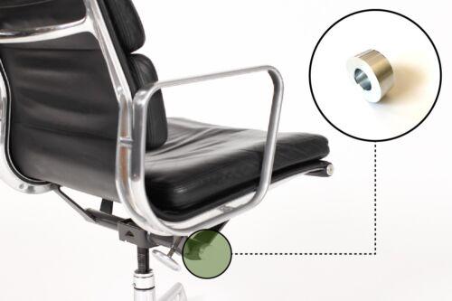 Eames Herman Miller Aluminum Group Soft Pad Chair Tilt End Cap Brushed Small