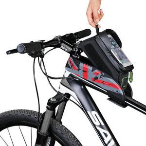 Bicicleta-Bolsa-de-Tubo-Frontal-Marco-ROCKBROS-Bolsa-Bolsa-de-Bicicleta-Impermeable-pantalla-tactil