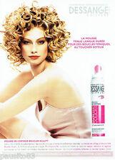 PUBLICITE ADVERTISING 016 2007 Jacques Dessange coiffeur mousse coiffage  090116