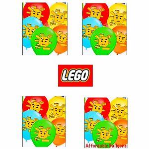 "10 X 12/"" LEGO BLOCKS  Printed Latex Balloons Birthday Party Decoration loot bags"