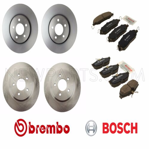 For Ford Mustang 05-10 4.6L Front /& Rear Disc Brake Brembo Rotors /& Bosch Pads