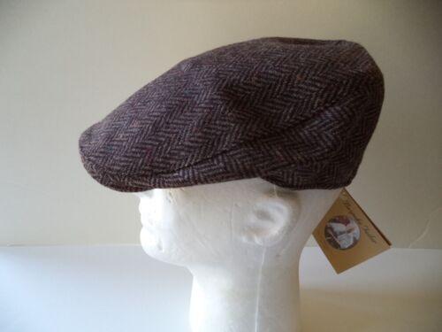 Men/'s Irish Tweed Touring cap Brown Hanna hat hand made in Donegal Ireland wool