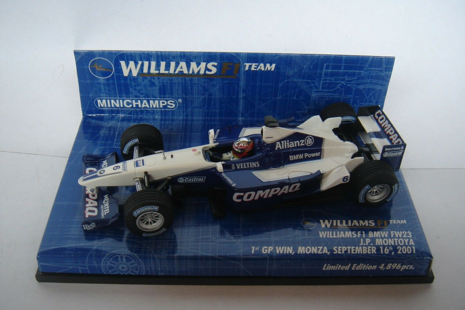 Joyeux Noël, bon shopping Minichamps 1:43 Williams FW23 1st Win Juan Pablo Montoya 010126 | Outlet Online Store