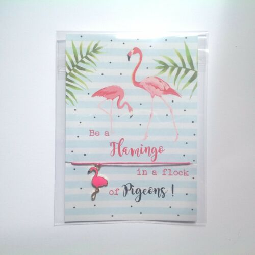 Flamingo Gift Wish Bracelet Flamingo Wish Bracelet Hen Party Bracelet