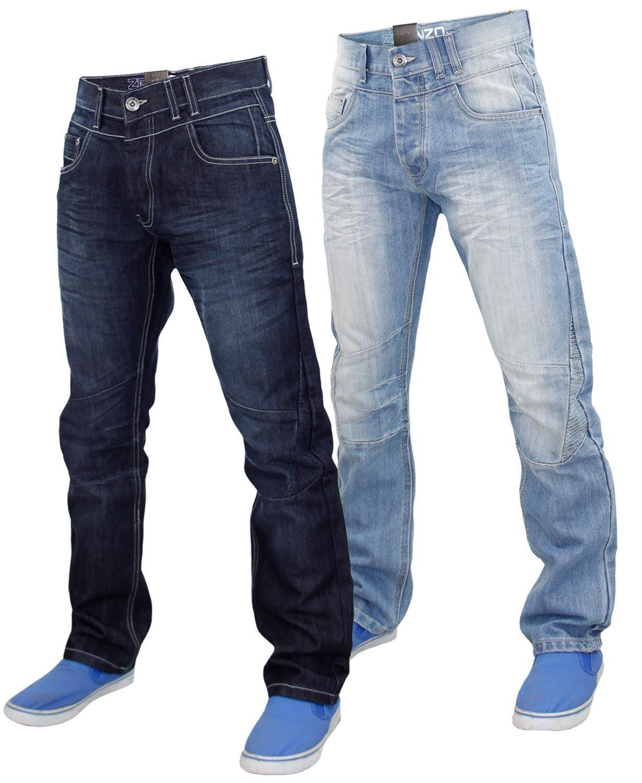 ETO Da Uomo Designer Light Blue Stone Wash Combat Pantaloncini di Jeans Casual Jeans