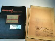 Marvel Series 8 Band Saw Operating Manual Parts Catalog Amp Electrical Blueprints