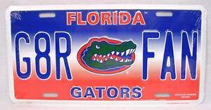 University of Florida G8R Fan Gators Aluminum Car Truck Auto Tag License Plate