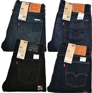 0d55478d37c Image is loading Levis-513-Jeans-Slim-Straight-Stonewashed-Blue-Black-