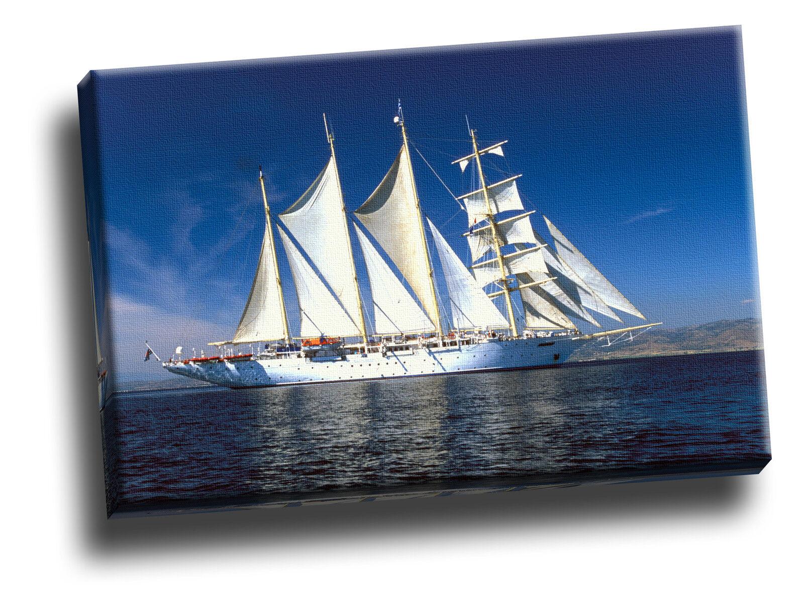 Star Flyer Boat Boat Boat Aegean Sea Turkey Giclee Canvas Seascape Picture Art b1282b