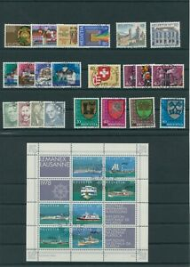 Suisse-Suisse-Vintage-Yearset-1978-Timbres-Used-Complet-Sh-Boutique