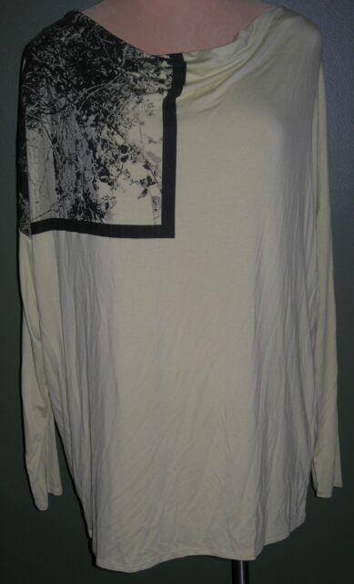 b7427d0a4730e LANE BRYANT 22 24 Green Cold Shoulder Knit Ruffle Trim Swing Top 22W ...