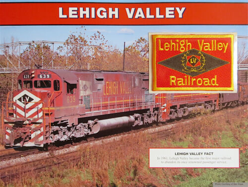 LEHIGH VALLEY RAILROAD ~ Willabee /& Ward ~ GREAT AMERICAN RAILROAD EMBLEM PATCH