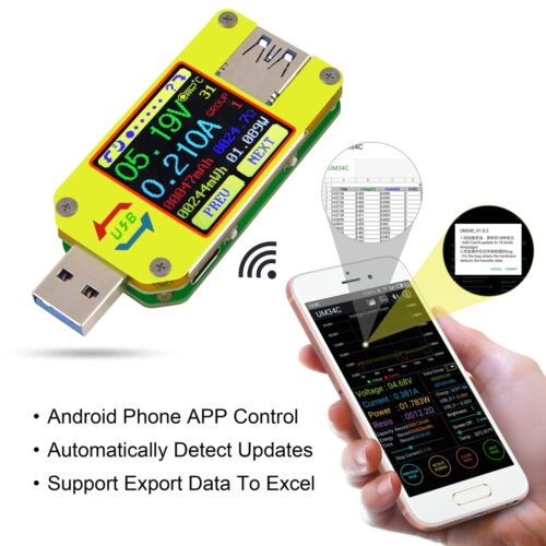UM34C USB 3.0 Type-C Voltage Current Meter Testeur de charge de batterie Android App