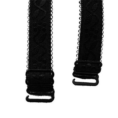 1 Pair Bra Shoulder Strap Elastic Adjustable Flower Bra Strap Replacement YU