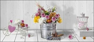 Dettagli Su Quadro Moderno Su Tela Shabby Chic Bici E Vaso Con Fiori Gardening 3 Misure