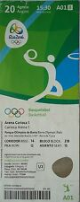 TICKET 20.8.2016 Olympic Rio Basketball Women's Finale USA - Spanien # A01