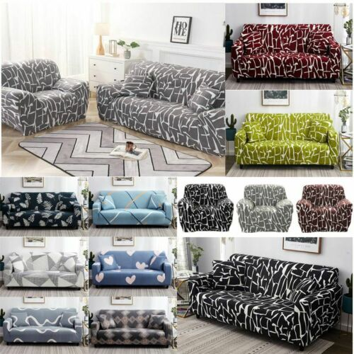 Printed Slipcover Sofa Cover Spandex Stretch Couch Cover Furniture Protector New