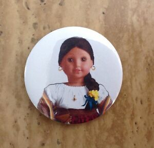 """American Girl Doll Kirsten Button Badge 2.25/"""" Pin Party Favor Gift Accessory New"""