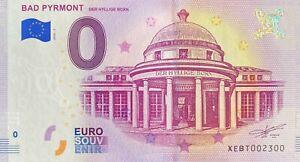 BILLET-0-EURO-BAD-PYRMONT-ALLEMAGNE-2018-NUMERO-2300