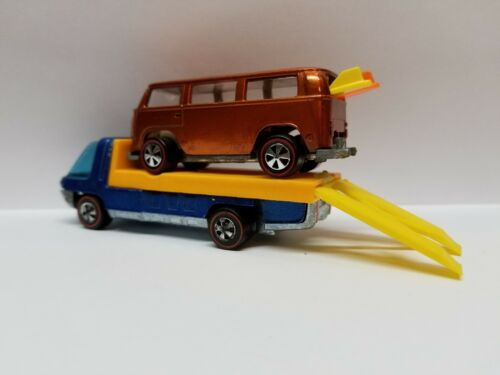BED-ONLY Hot Wheels Redline HeavyWeight Long Base Truck Custom FlatBed W//Ramps