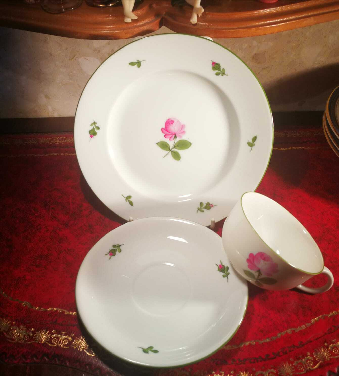Image 5 - WIEN AUGARTEN Wienna Cup & Saucers and Side Plate 5089 VGC Perfect Condition