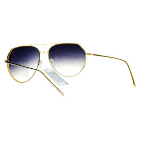 Oversized Aviator Sunglasses Angled Metal Frame Unisex Design