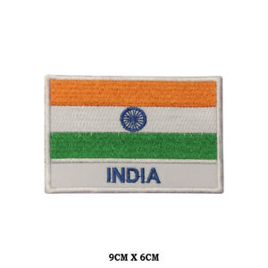 India National Flag Embroidered Patch Iron on Sew On Badge For Clothes etc
