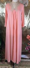 Vanity Fair Vintage Button Long Robe Apricot 32 # 061506